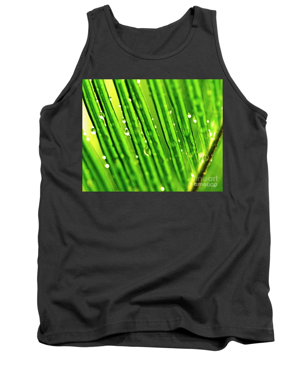 Sago Palm Tank Top featuring the photograph Palm Leaf by Scott Pellegrin