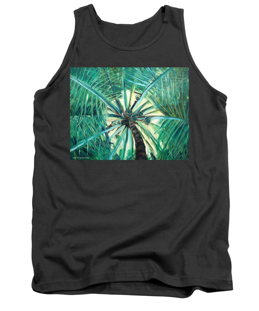 Palm Tree Tank Top featuring the painting Palm Tree by Gina De Gorna