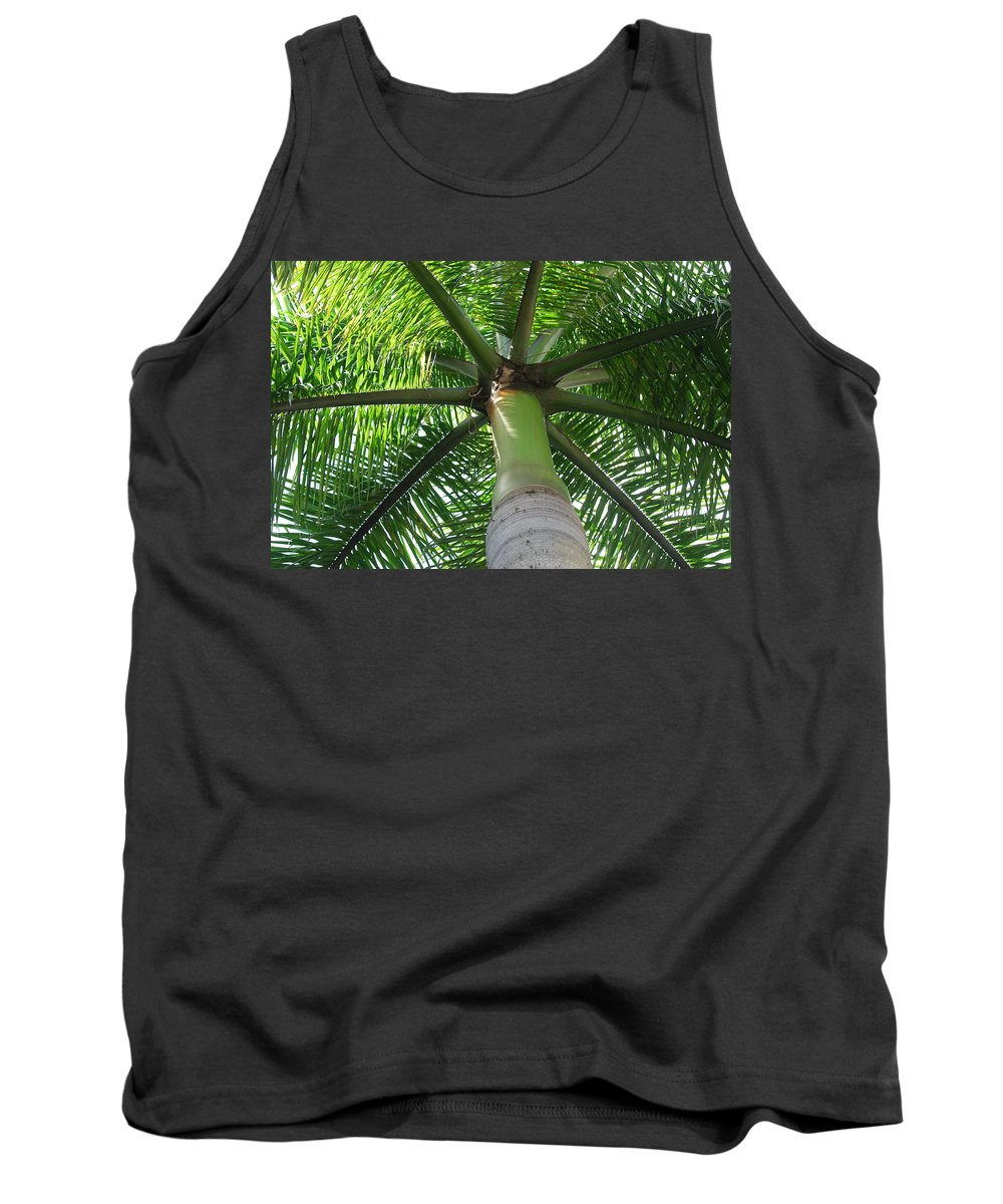 Macro Tank Top featuring the photograph Palm Unbrella by Rob Hans
