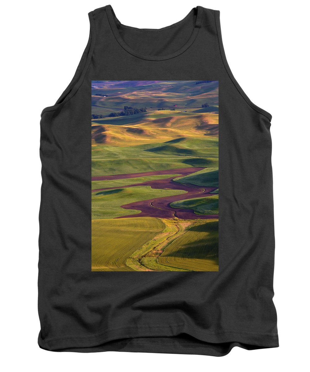 Palouse; Hills Tank Top featuring the photograph Palouse Hills by Mike Dawson