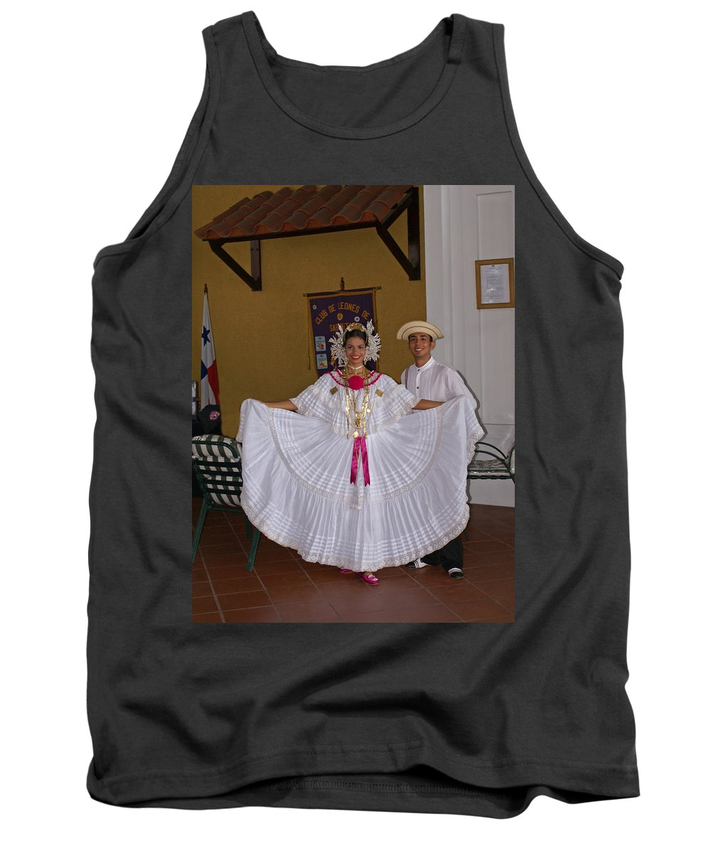 Greeters Tank Top featuring the photograph Panama Greetings by Heather Coen