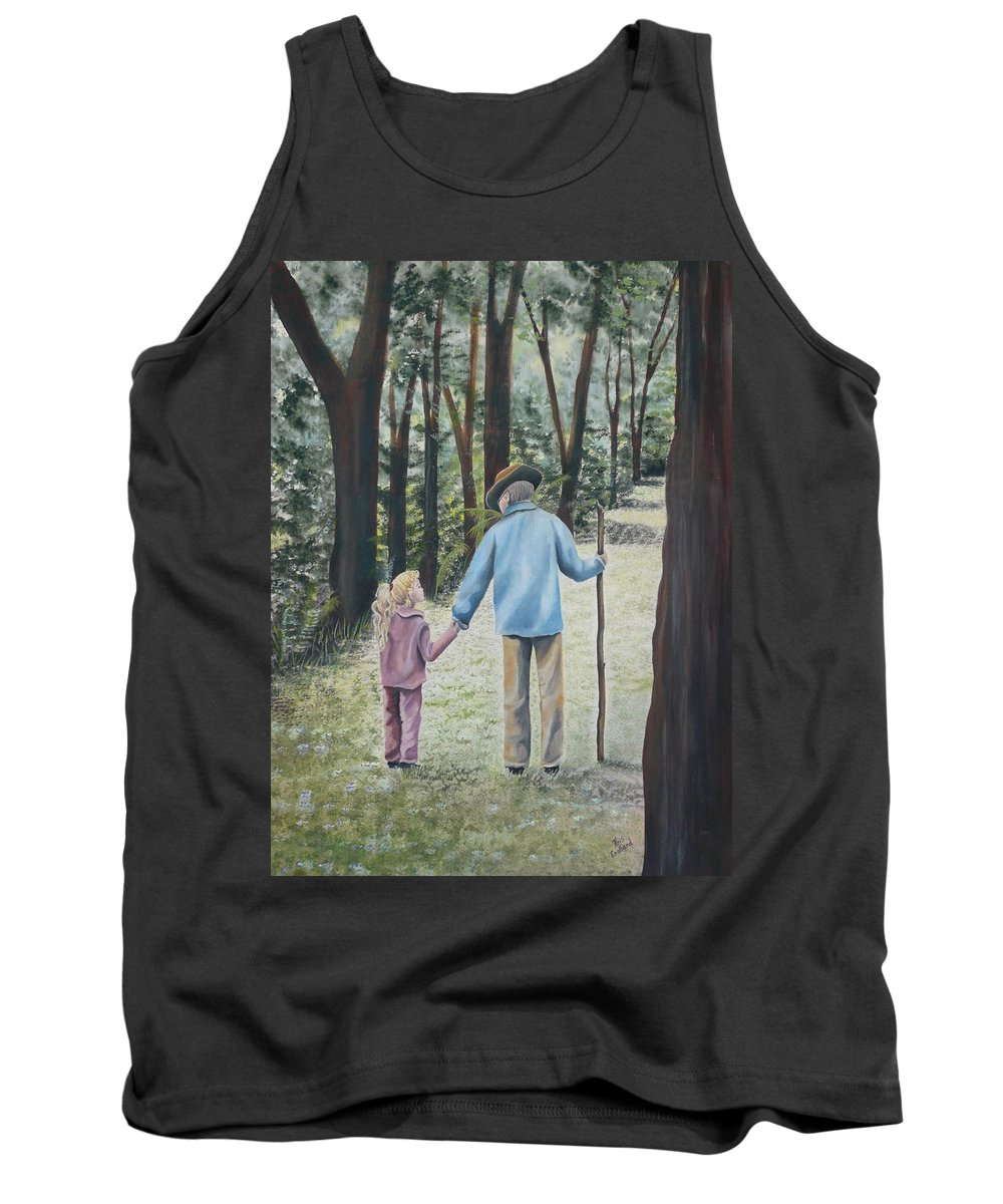 Grandfather Tank Top featuring the painting Papa by Kris Crollard