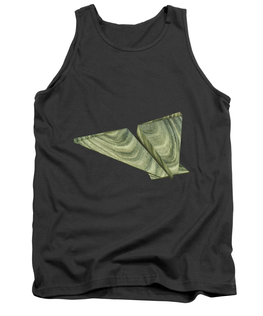 Aircraft Tank Top featuring the photograph Paper Airplanes Of Wood 19 by YoPedro