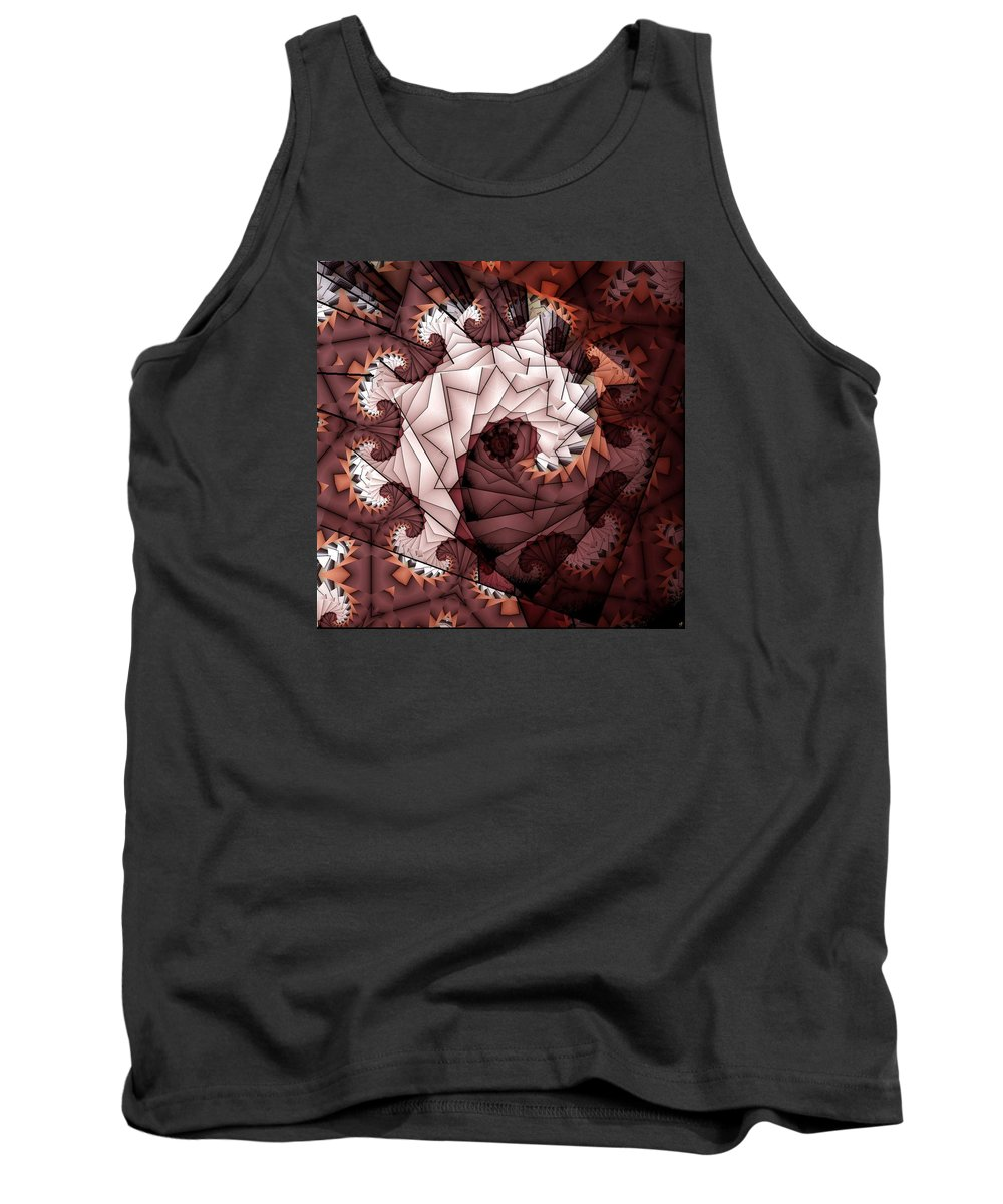 Abstract Tank Top featuring the digital art Paper Spiral by Ron Bissett