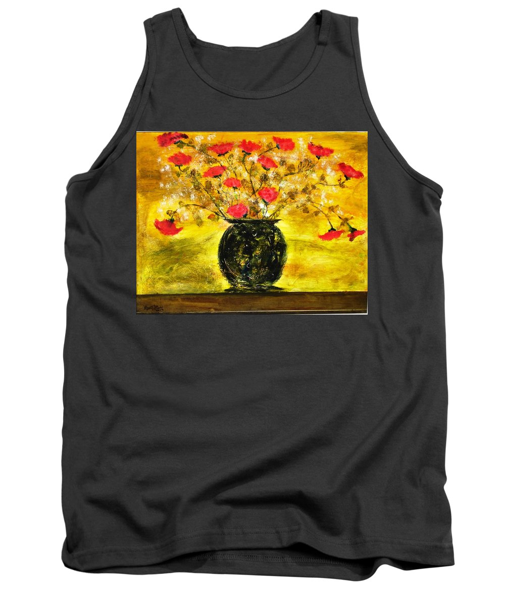 Tank Top featuring the painting Pappaveri by Martha Dolan