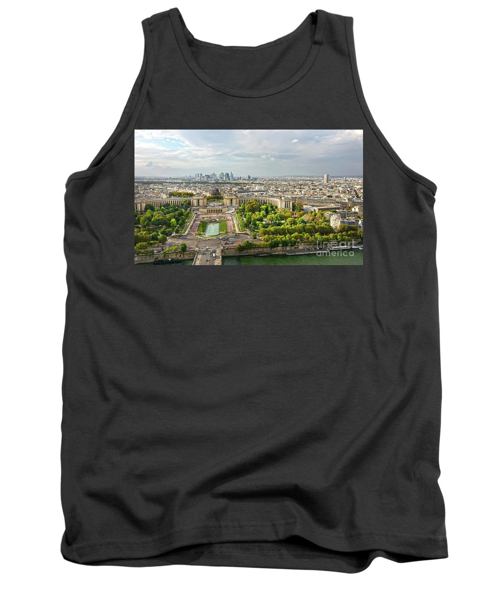 Paris Tank Top featuring the photograph Paris City View 27 by Alex Art and Photo