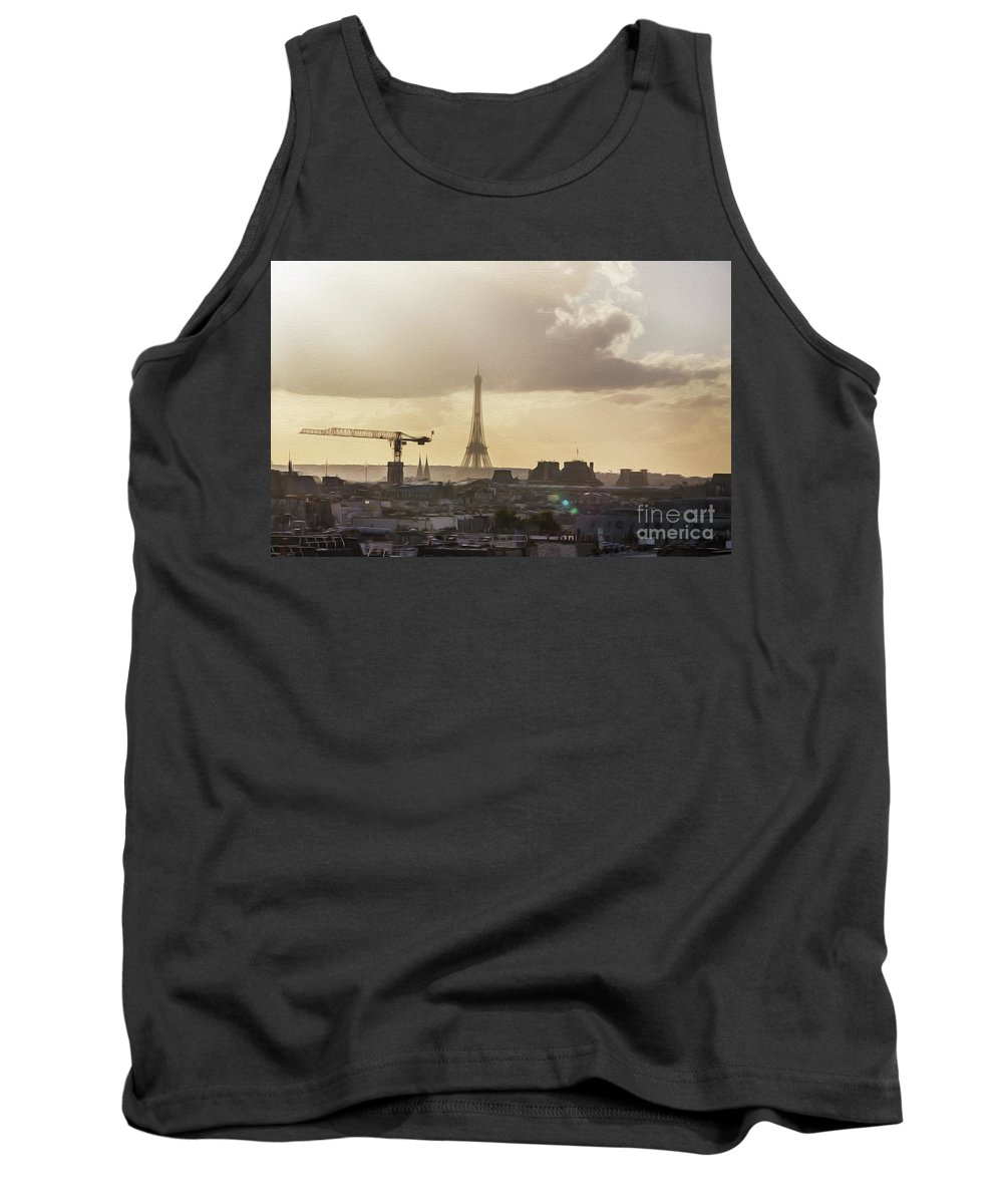 Paris Tank Top featuring the photograph Paris City View 30 by Alex Art and Photo