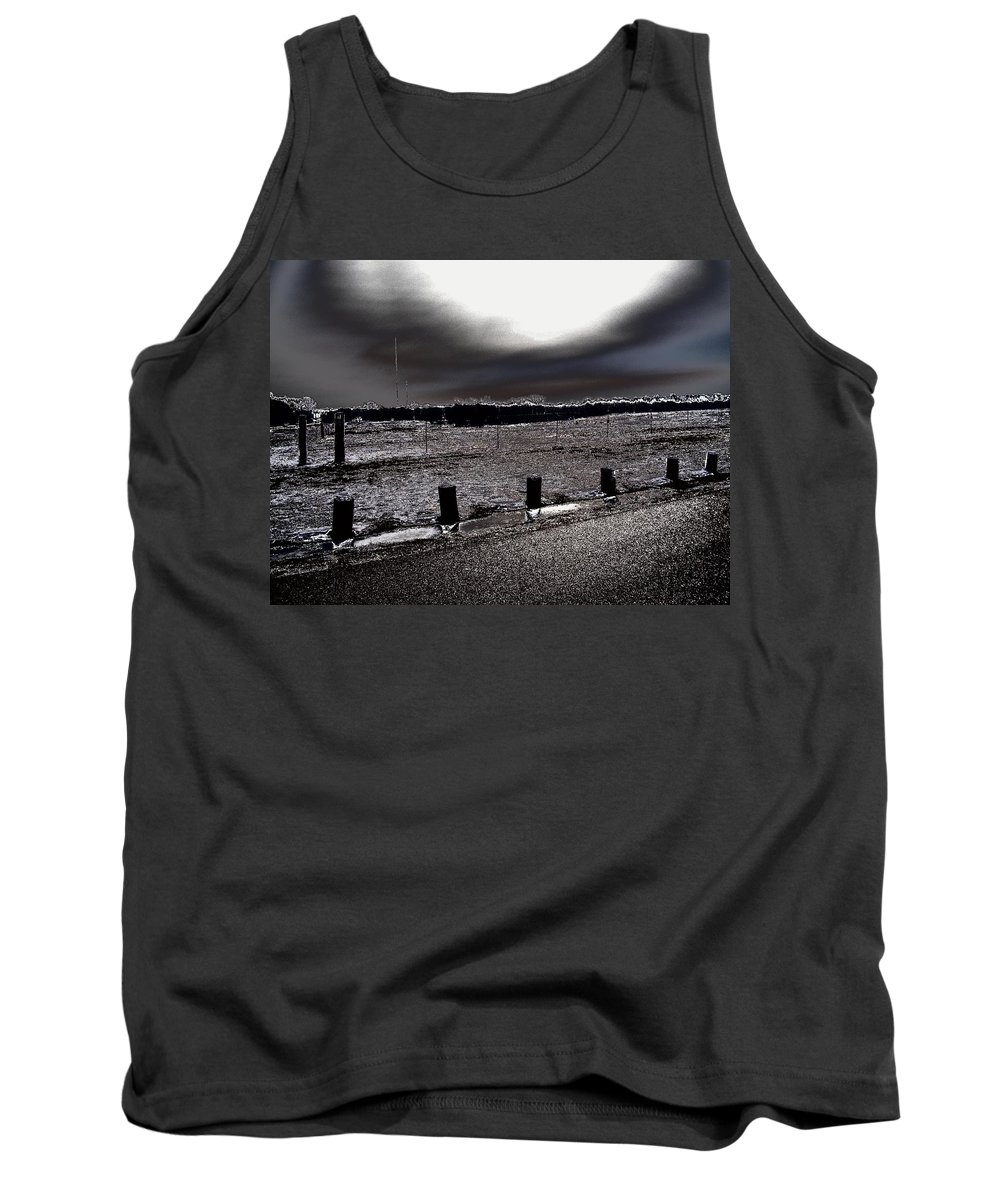 Outdoor Tank Top featuring the photograph Park In The Moonlight by Charleen Treasures