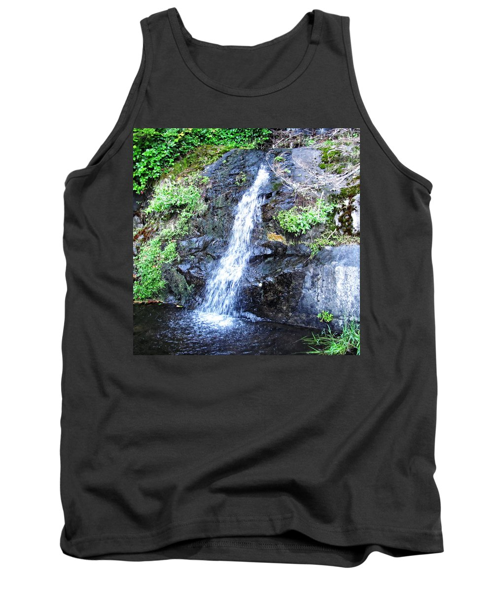 Columbia Gorge Tank Top featuring the photograph Parker Creek Falls by Ingrid Smith-Johnsen