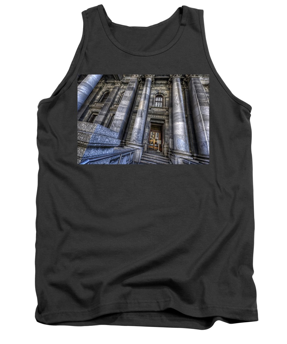 Adelaide Tank Top featuring the photograph Parliament House by Wayne Sherriff
