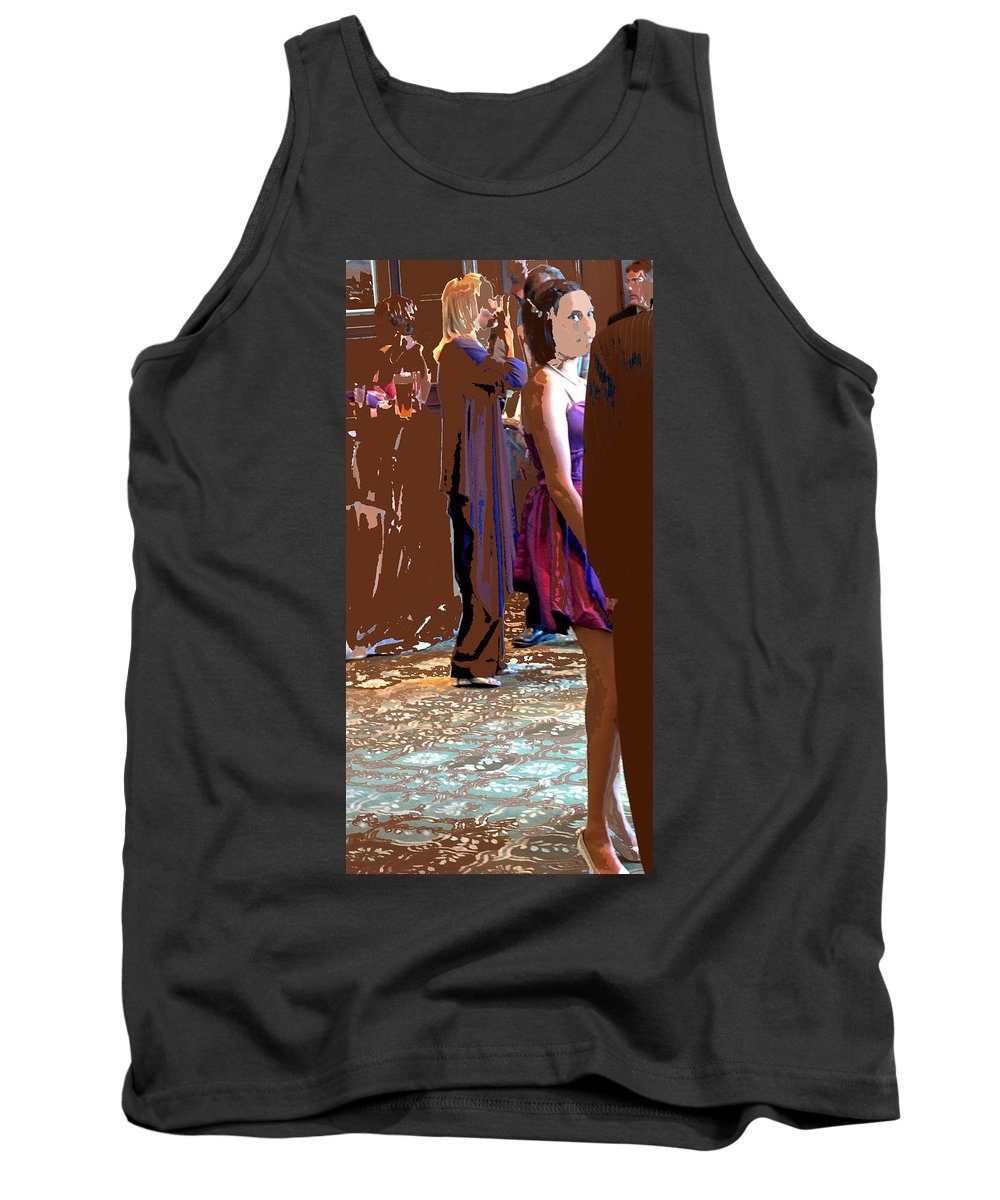 Tank Top featuring the photograph Party Girl by Ian MacDonald