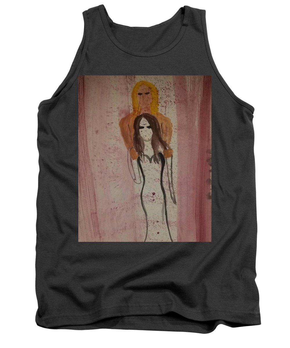 Passion Tank Top featuring the painting Passion And Blood by Vale Anoa'i