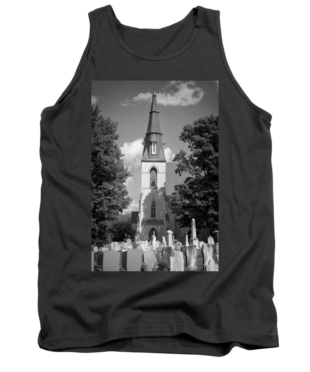 Blacj And White Tank Top featuring the photograph Past Congregation by Scott Wyatt