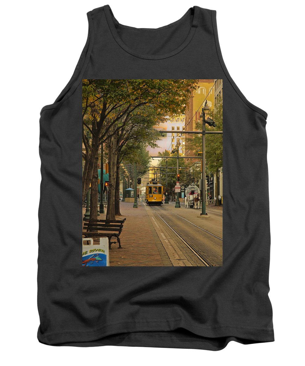 Main Street Tank Top featuring the photograph Past Meets Present by Ajit Pillai