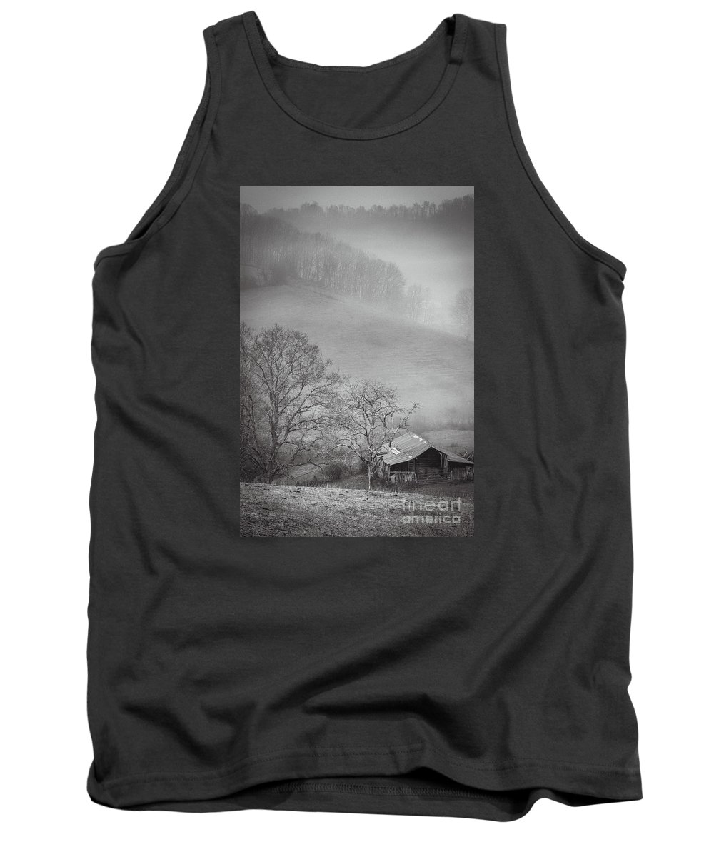 Pasture Field Tank Top featuring the photograph Pasture Field And Barn by Thomas R Fletcher