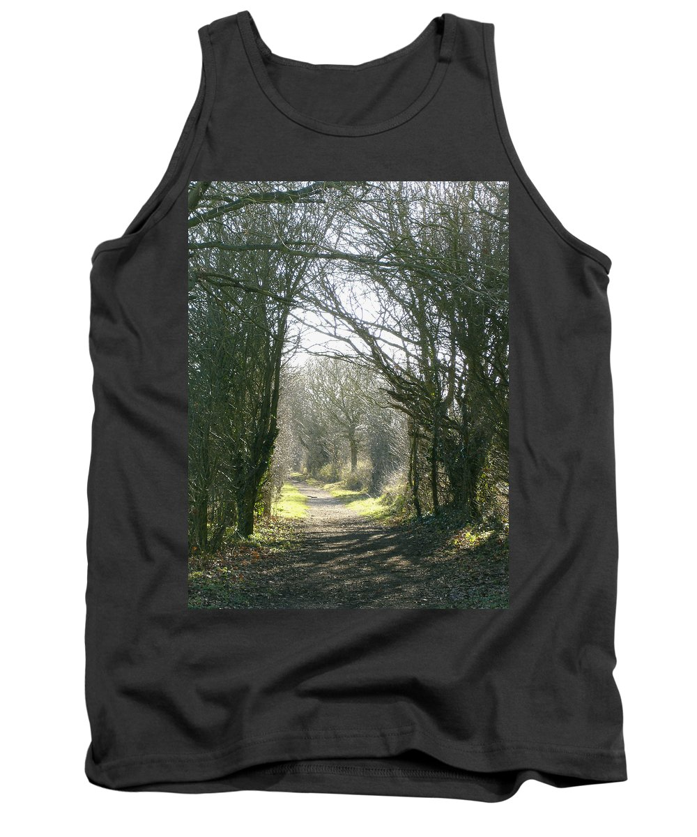Path Tank Top featuring the photograph Path To Wherever by Susan Baker