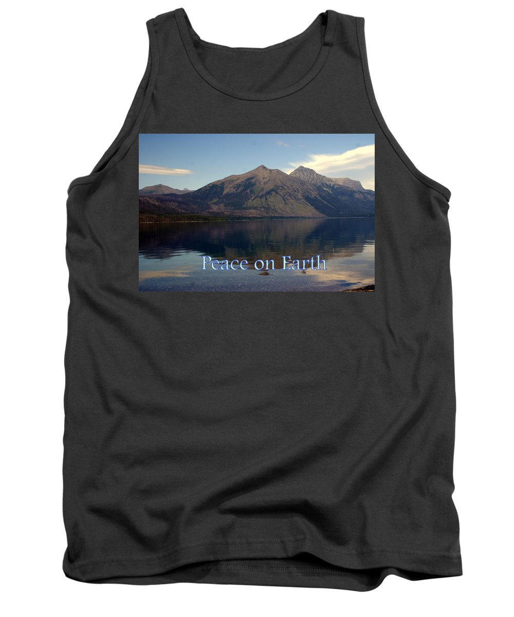 Photo Greeting Card Tank Top featuring the greeting card Peace On Earth 1 by Marty Koch