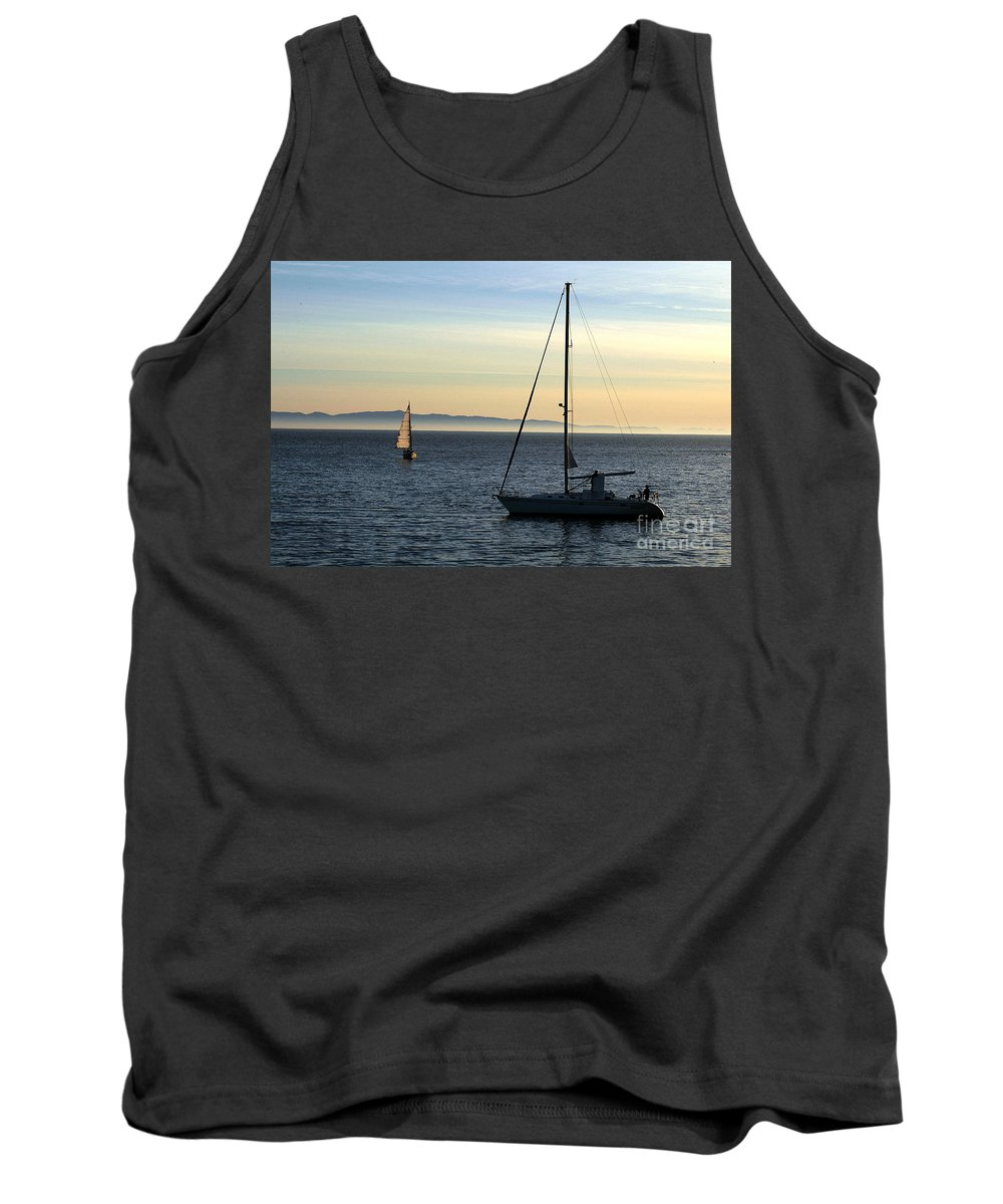 Clay Tank Top featuring the photograph Peaceful Day In Santa Barbara by Clayton Bruster