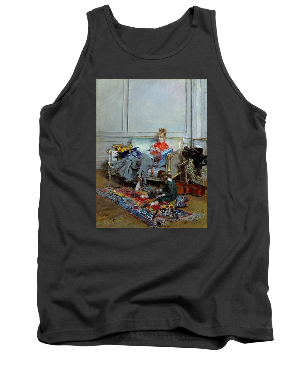 Painting Tank Top featuring the painting Peaceful Days by Mountain Dreams