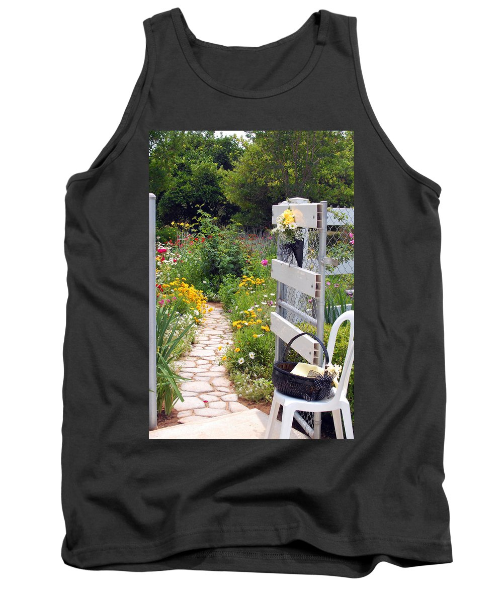 Garden Tank Top featuring the photograph Peaceful Garden by Amy Fose