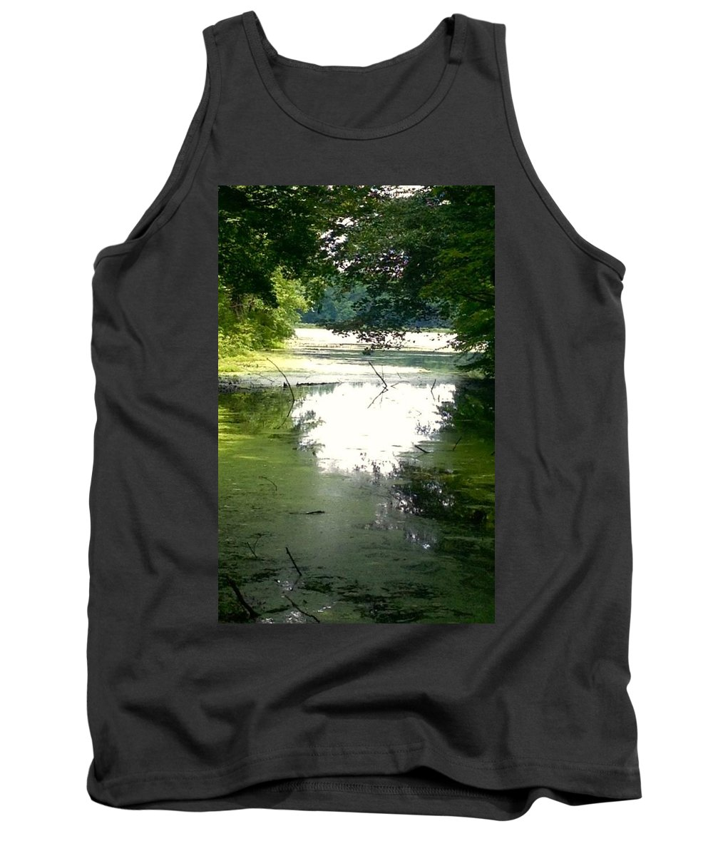 Water Tank Top featuring the photograph Peaceful Pond by Dennis Kirby
