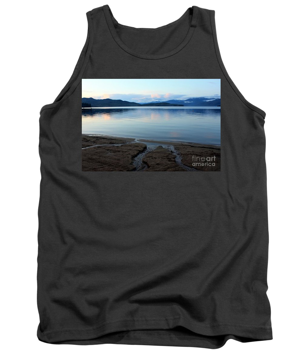 Beach Tank Top featuring the photograph Peaceful Priest Lake by Carol Groenen