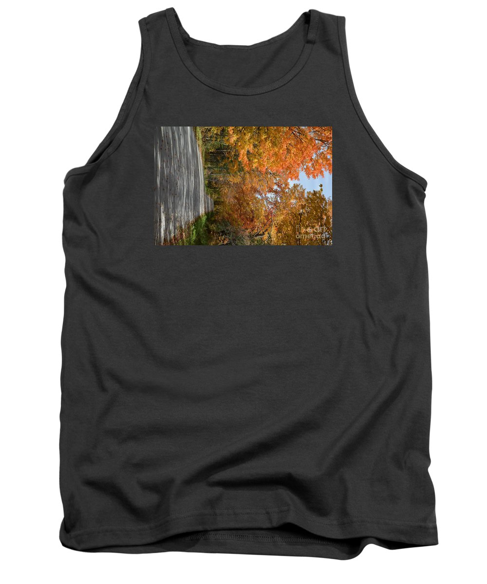 Vermont Tank Top featuring the photograph Peacham Side Road by George Scheller
