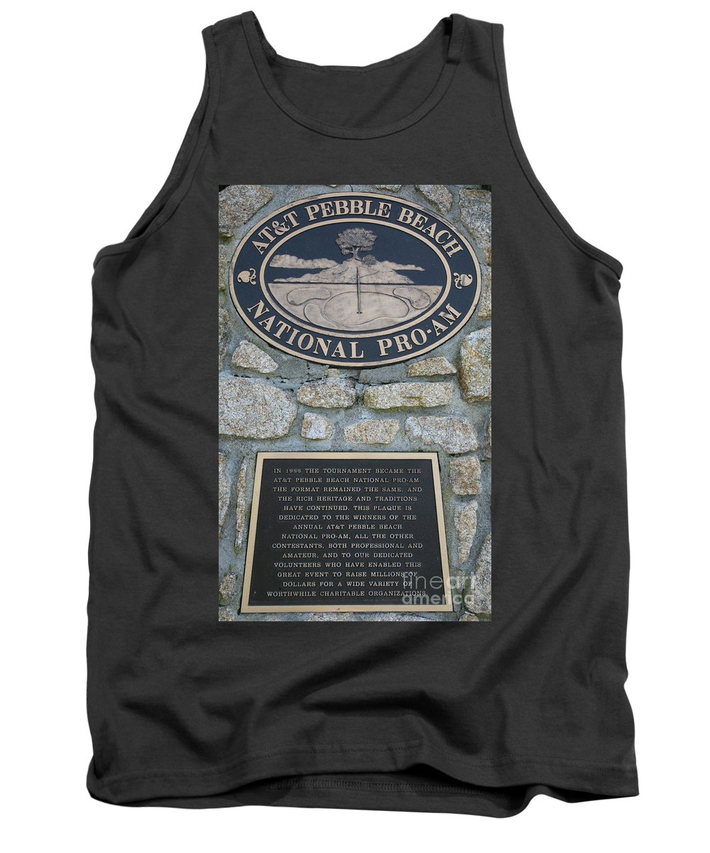 Monterey Tank Top featuring the photograph Pebble Beach National Pro-am I by Chuck Kuhn