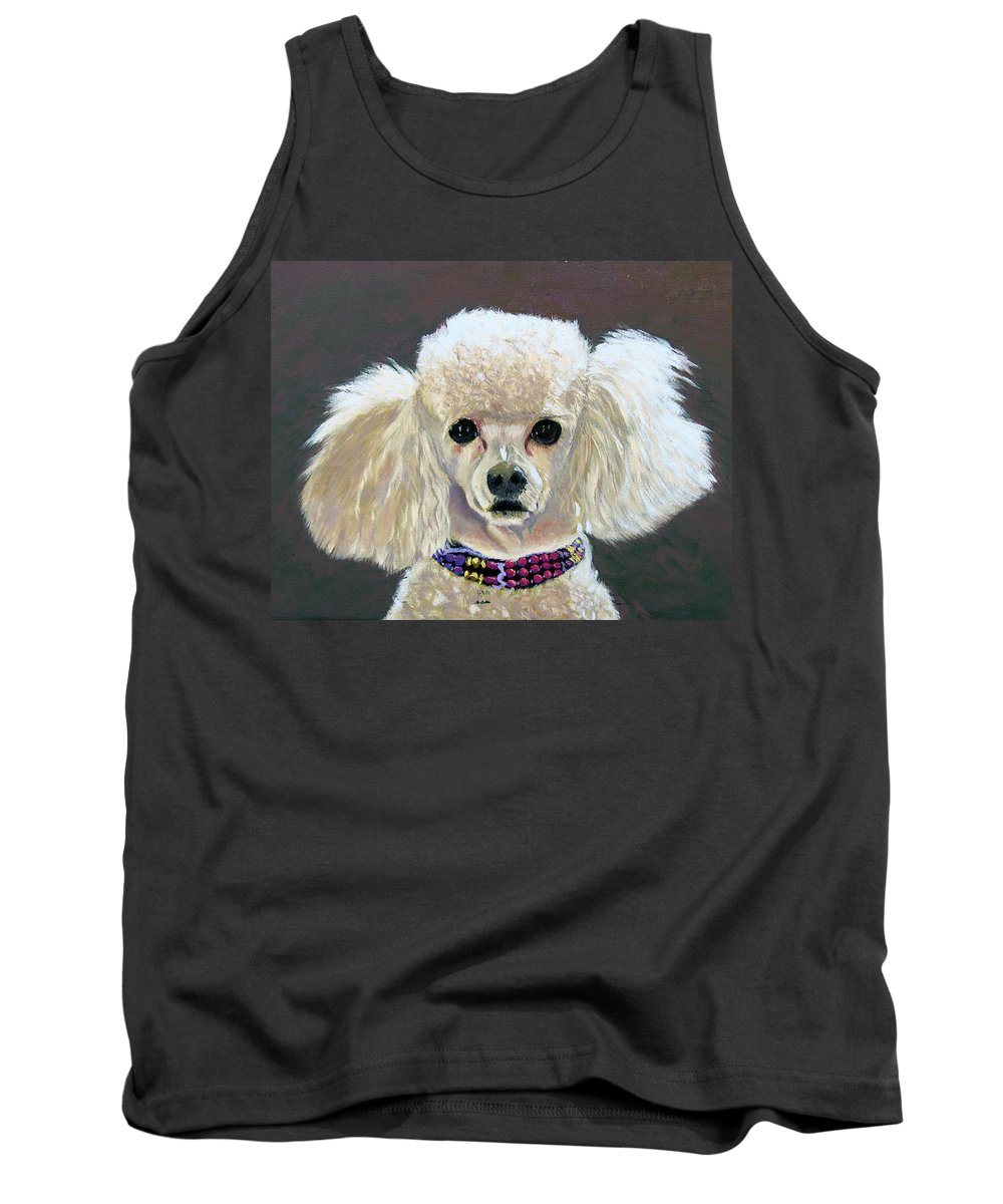 Dog Tank Top featuring the painting Pebbles by Stan Hamilton