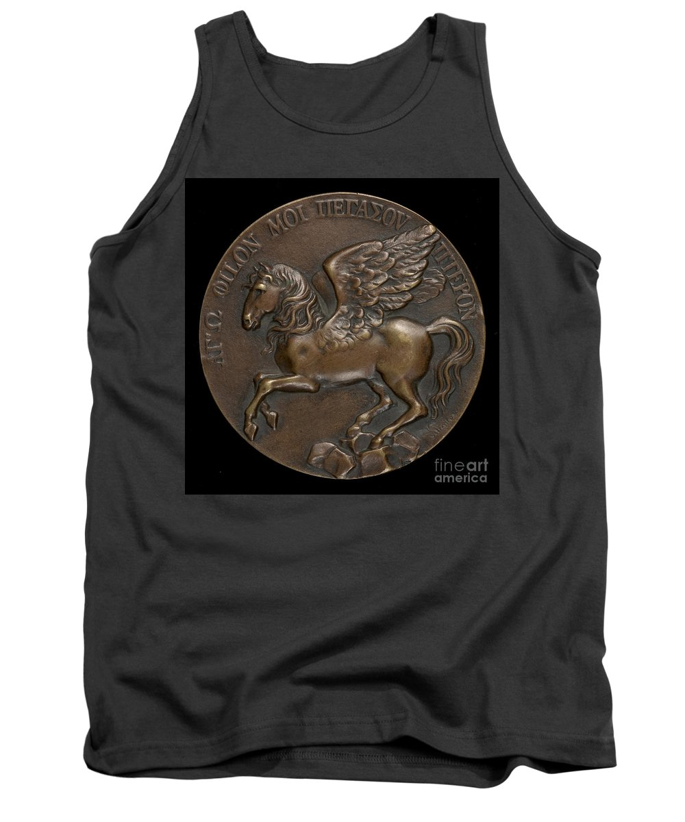 Tank Top featuring the photograph Pegasus Soaring Above Parnassus [reverse] by After Johann Gottfried Schadow