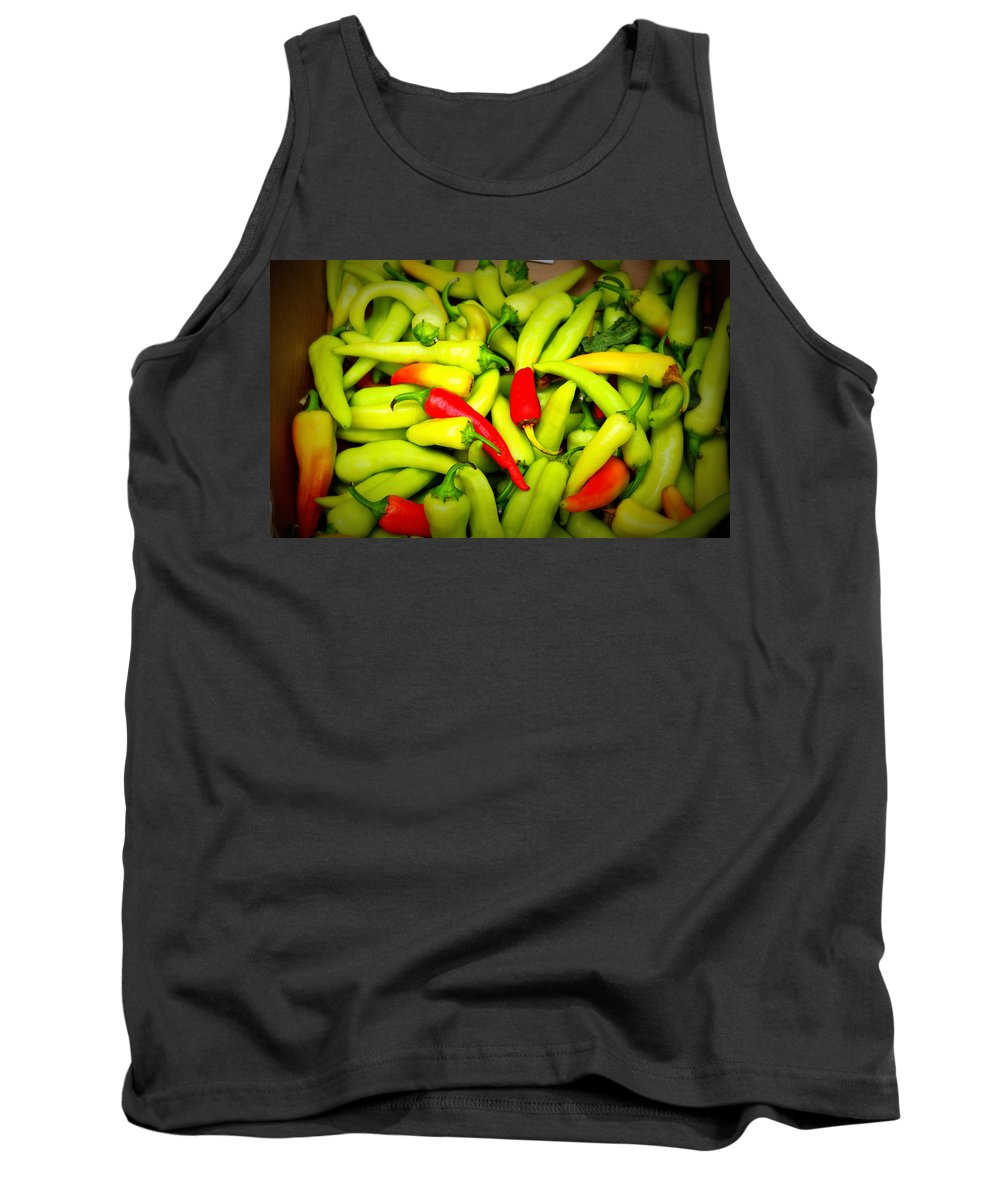 Peppers Tank Top featuring the photograph Peppers by Tina Meador