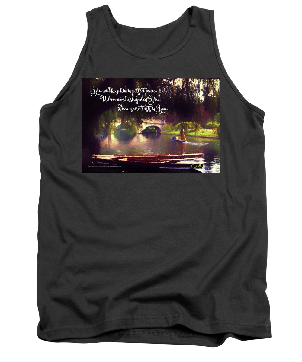 Peace Tank Top featuring the digital art Perfect Peace by Barry Wills