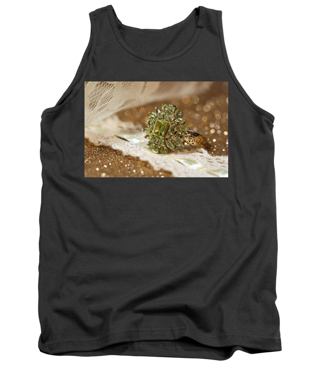 Jewelry Tank Top featuring the photograph Peridot by Gary Yost