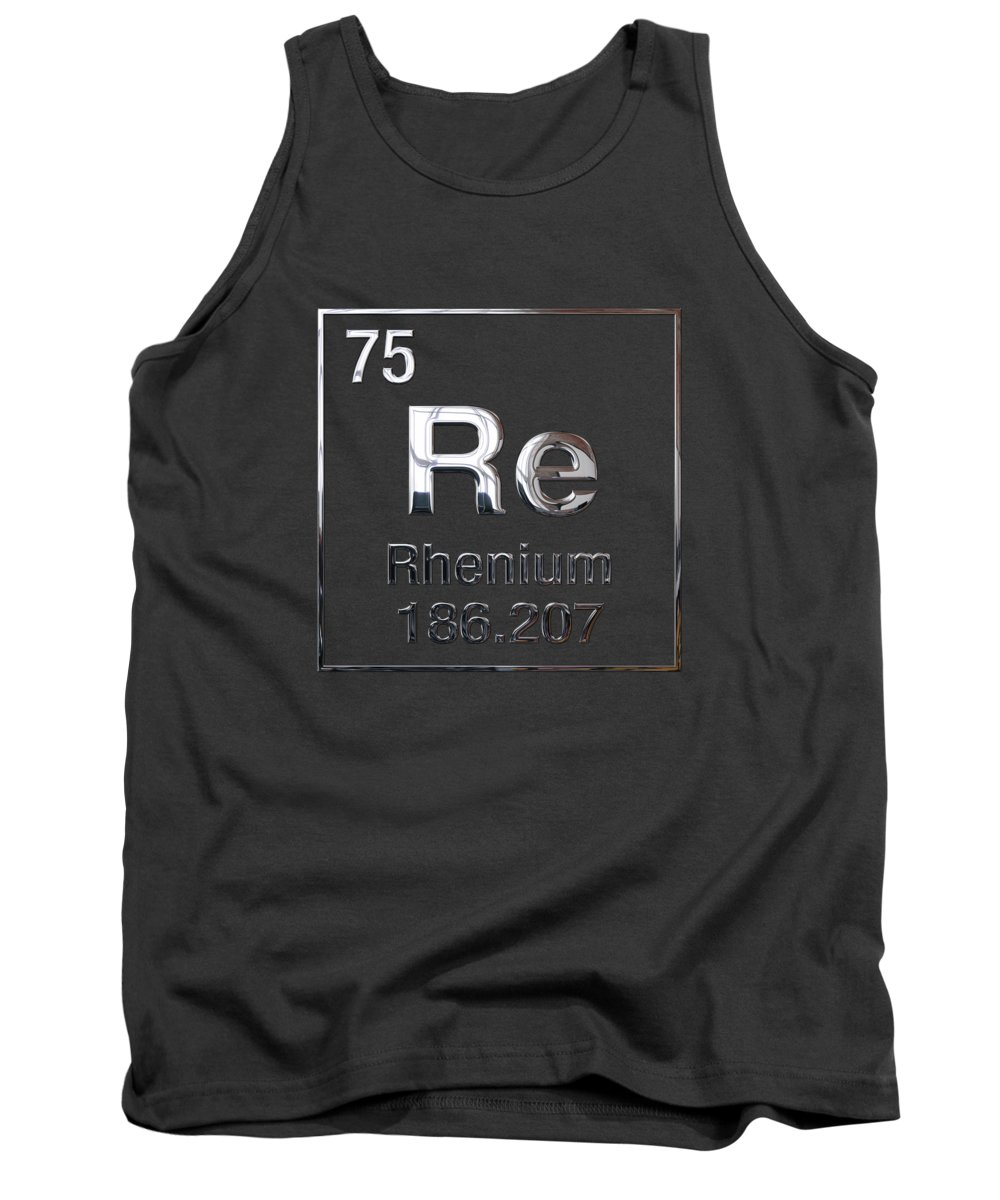'the Elements' Collection By Serge Averbukh Tank Top featuring the digital art Periodic Table Of Elements - Rhenium by Serge Averbukh