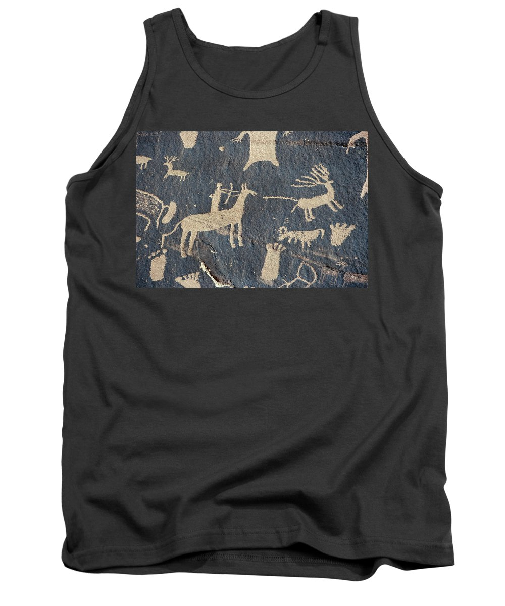 American Tank Top featuring the photograph Petroglyphs, Utah by Granger