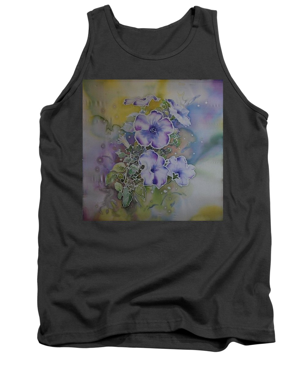 Petunia Tank Top featuring the painting Petunias by Susan White