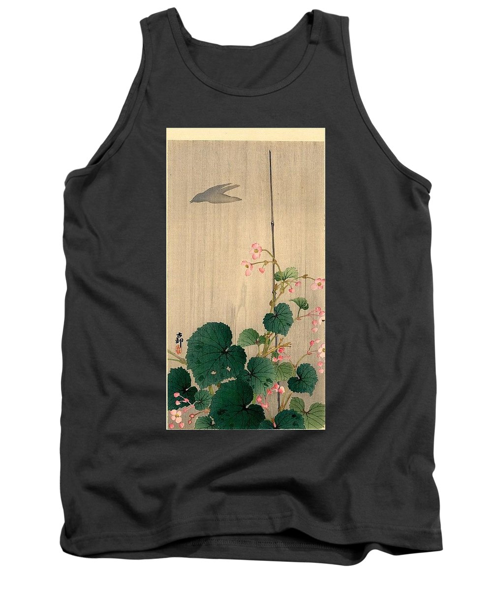 Cotton Tank Top featuring the digital art pic02288 Koson by Eloisa Mannion