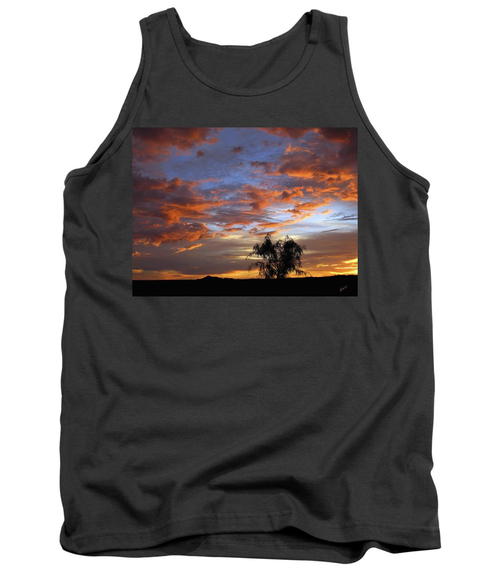 Sunset Tank Top featuring the photograph Picacho Peak Sunset II by Kurt Van Wagner