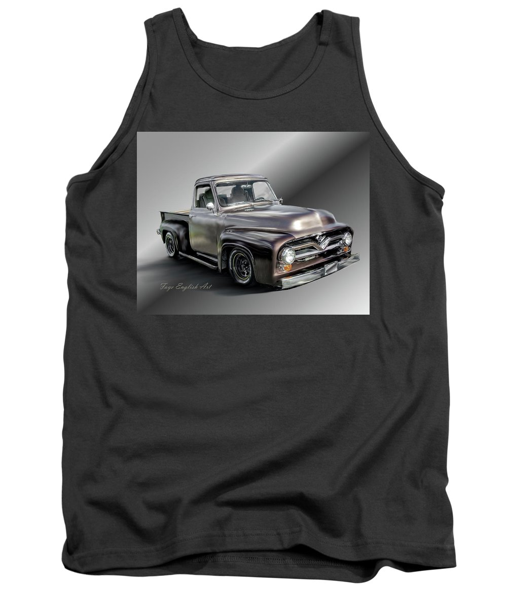 Pickup Tank Top featuring the digital art Pickup Named Penny by Faye English