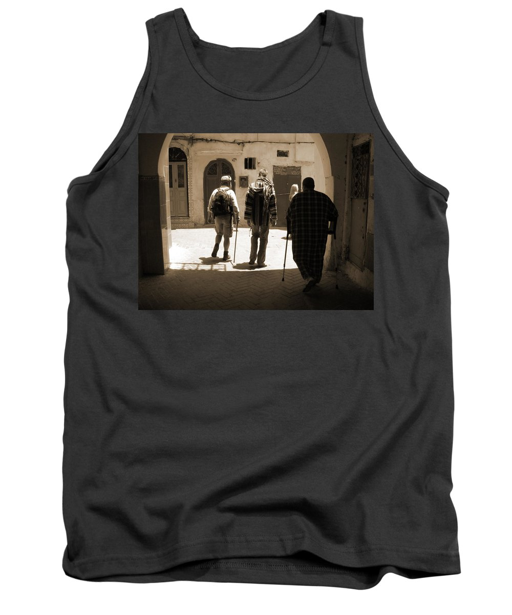 Medina Tank Top featuring the photograph Pied A Terre by Fay Lawrence