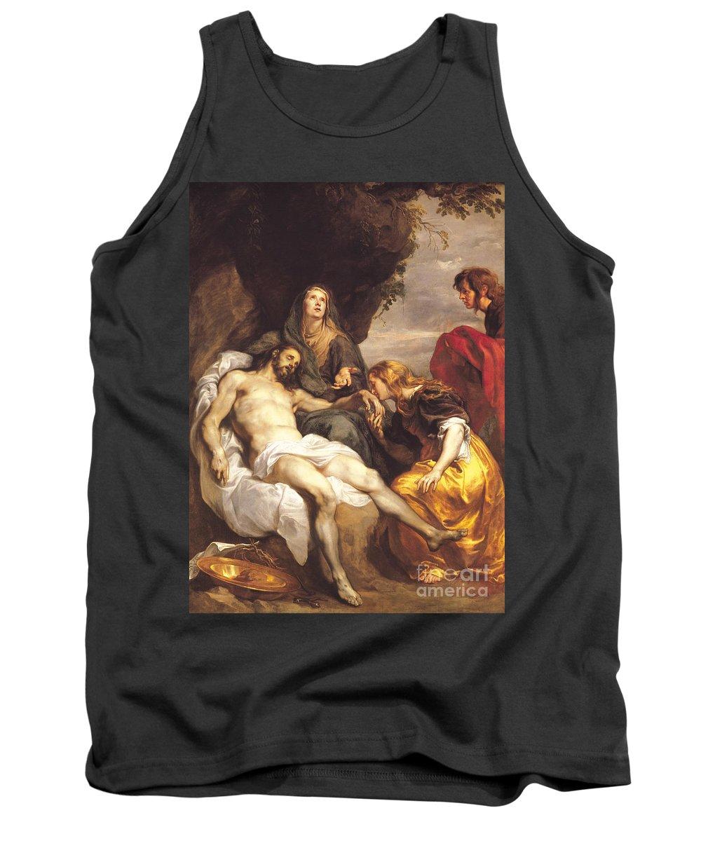 Pieta Tank Top featuring the painting Pieta by Sir Anthony van Dyck
