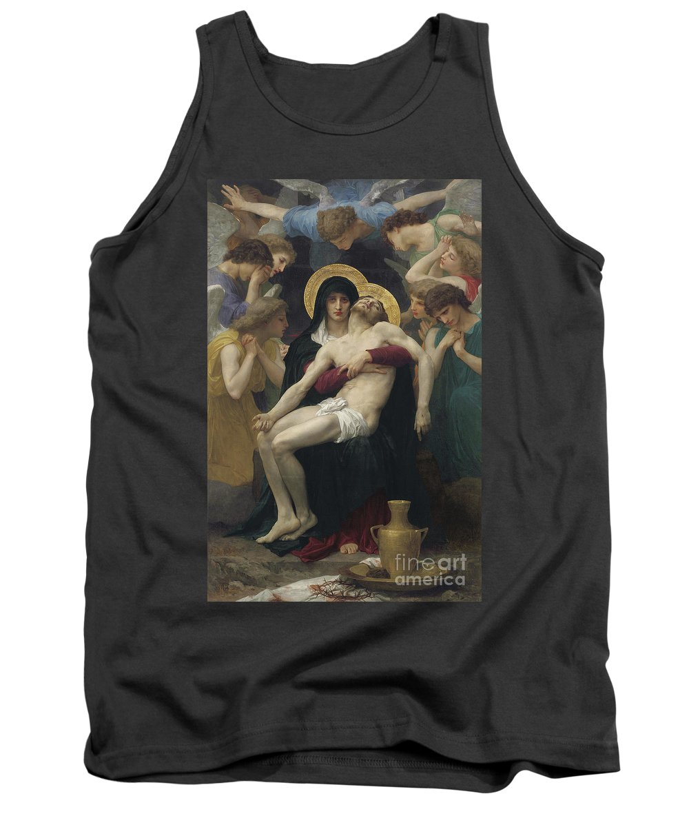 Pieta Tank Top featuring the painting Pieta by William Adolphe Bouguereau