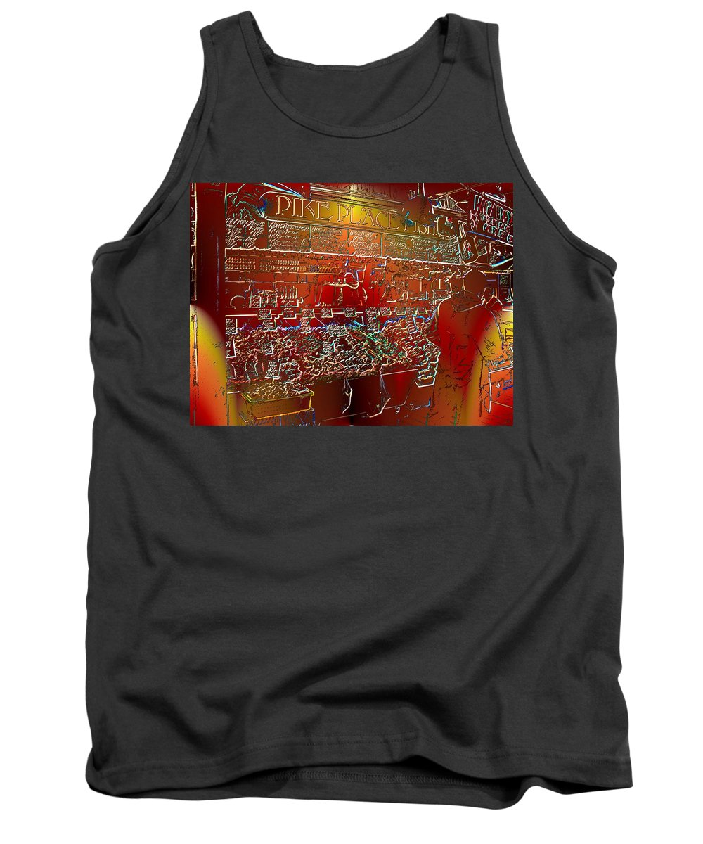 Seattle Tank Top featuring the photograph Pike Place Fish by Tim Allen