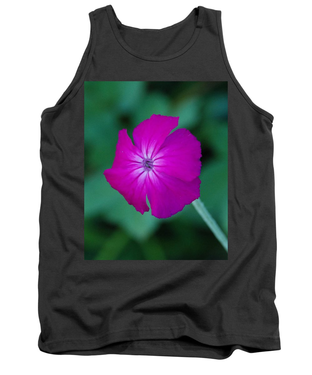 Pink Tank Top featuring the photograph Pink And White Flower by Carol Eliassen