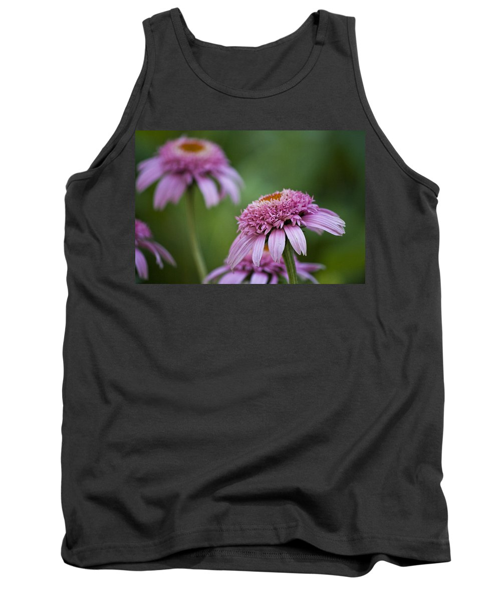 Pink Tank Top featuring the photograph Pink Double Delight by Teresa Mucha