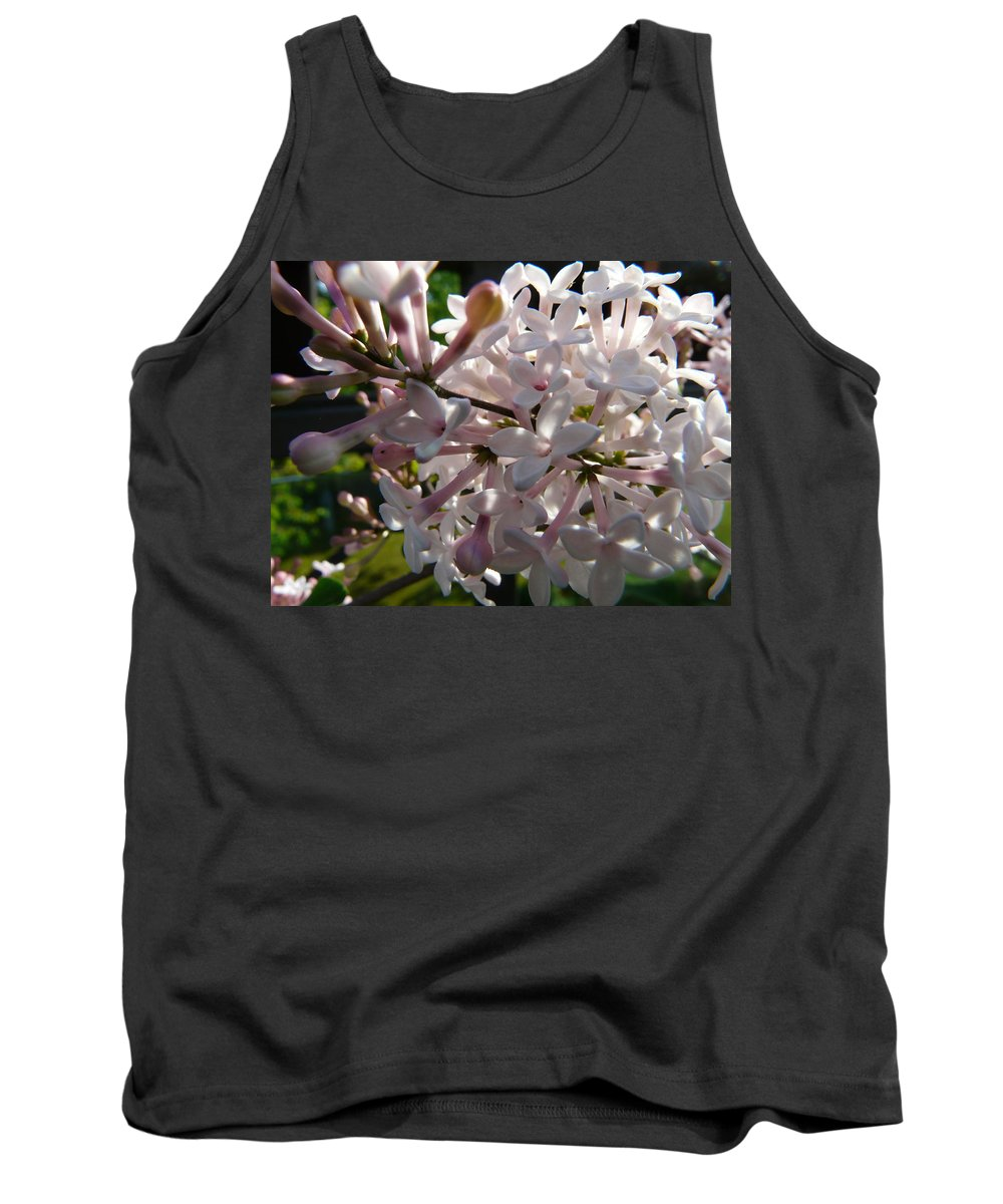 Flower Tank Top featuring the photograph Pink Lilac Blossom by Valerie Ornstein