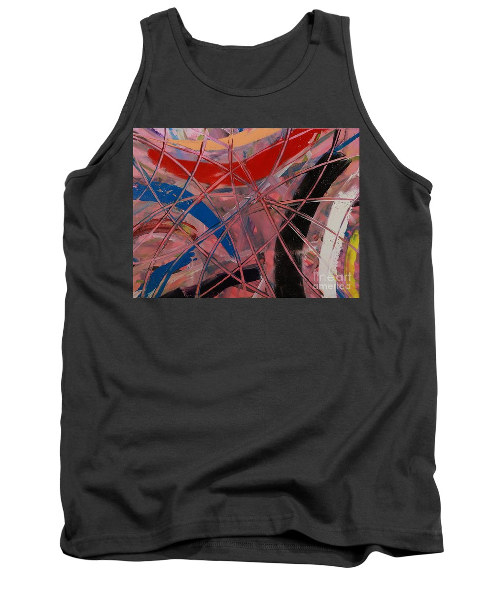 Oil Tank Top featuring the painting Pink Web - 203 by Robert Dixon