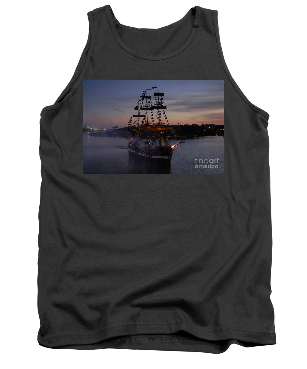 Pirates Tank Top featuring the photograph Pirate Invasion by David Lee Thompson