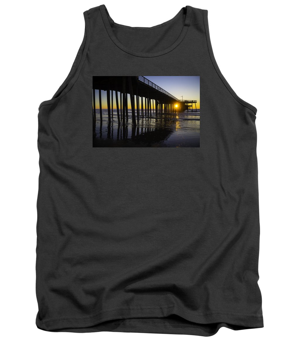 Pismo Beach Tank Top featuring the photograph Pismo Sunset Wharf by Garry Gay