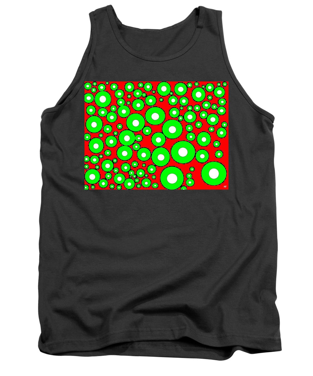 Abstract Tank Top featuring the digital art Pizzazz 5 by Will Borden